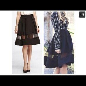 Express a line midi skirt